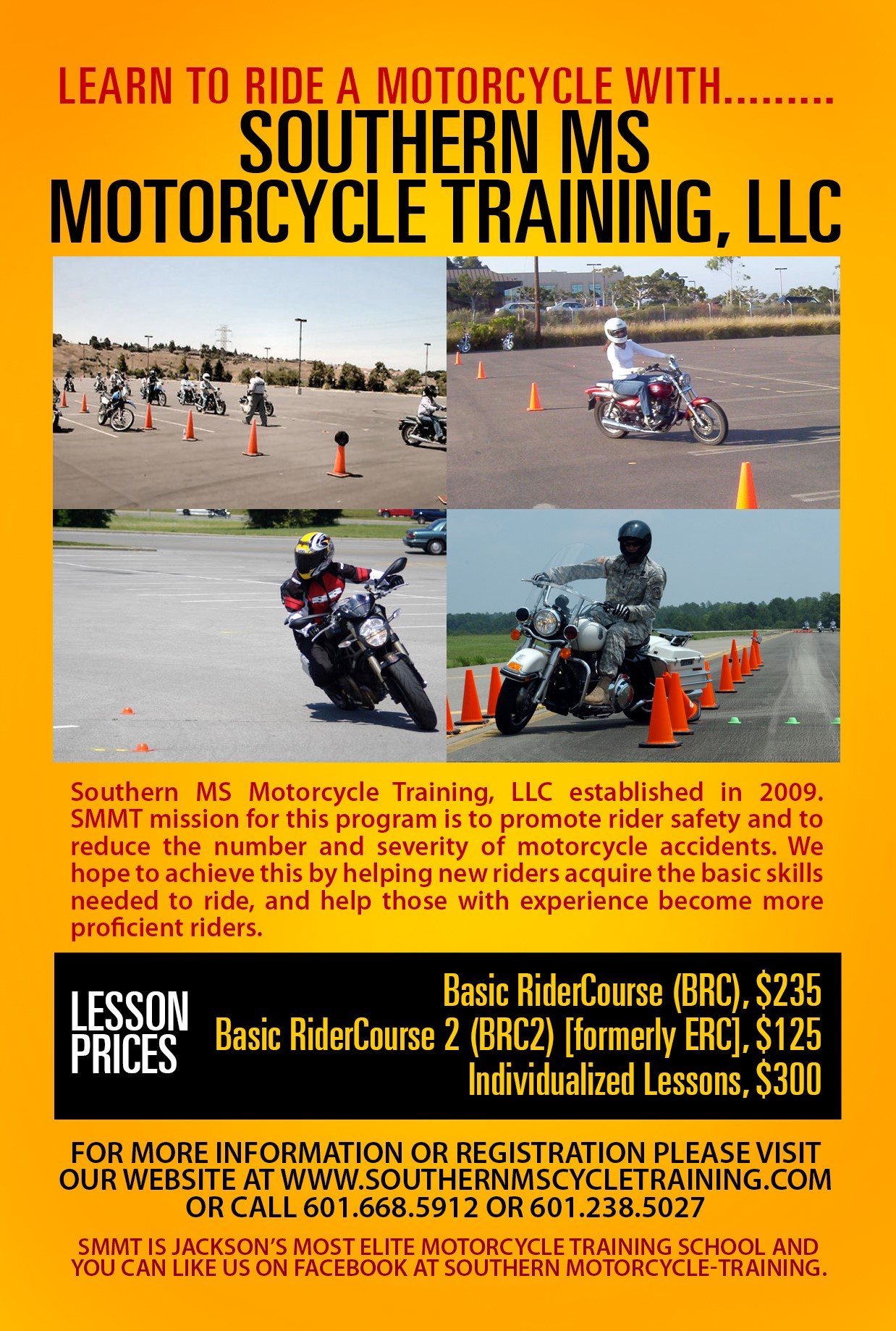 Southern ms motorcycle training class listing flyer xflitez Gallery